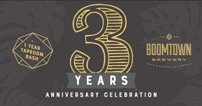 BOOMTOWN BREWERY 3rd ANNIVERSARY PARTY