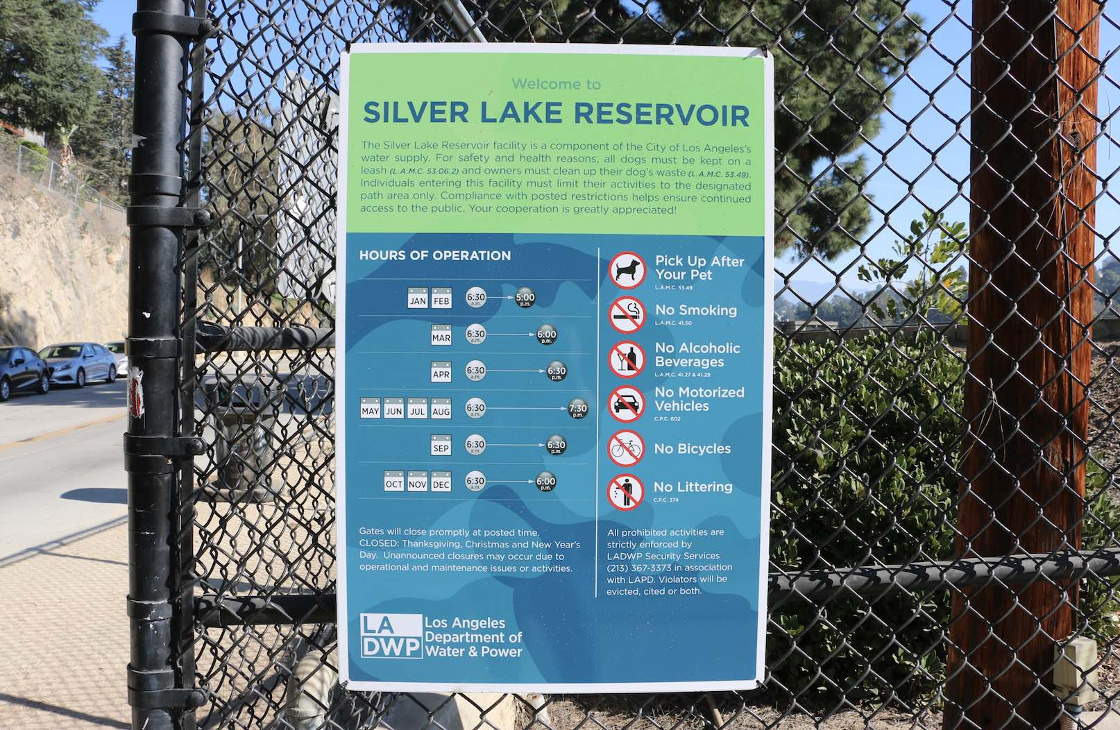 Silver Lake Reservoir hours