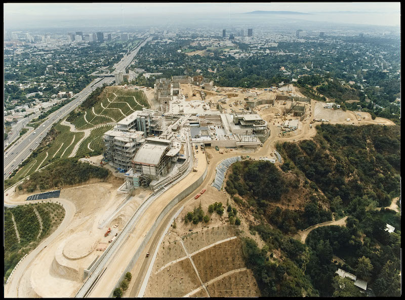 Getty Center under construction