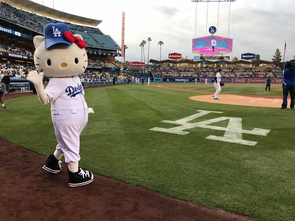 Hello Kitty Dodgers Night