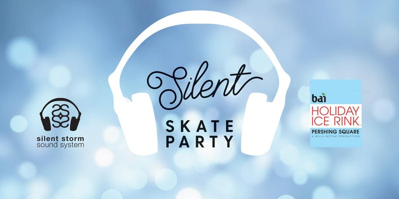 silent skate party at pershing square