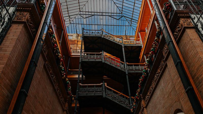 Interior of The Bradbury Building