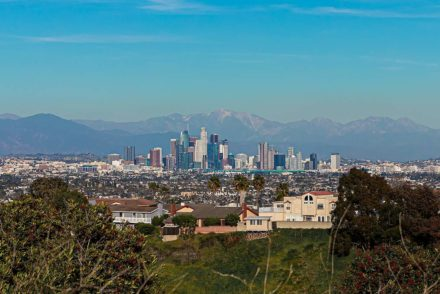 View of Downtown Los Angeles from Kenneth Hahn Recreation Area