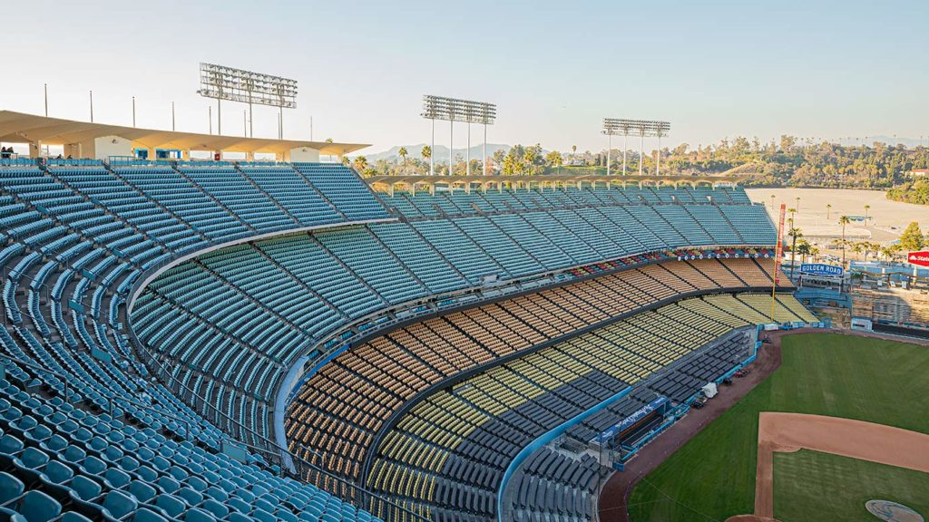 view of dodger stadium from the top deck