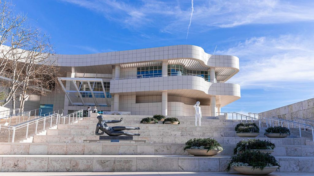 The Getty Center Courtyard