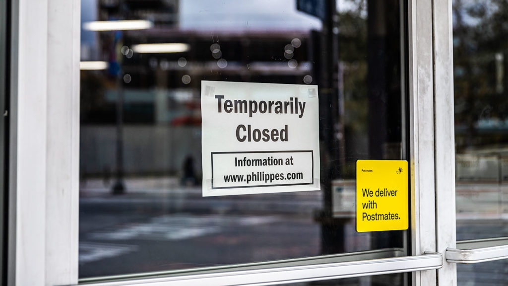 Closed Sign at Philippe