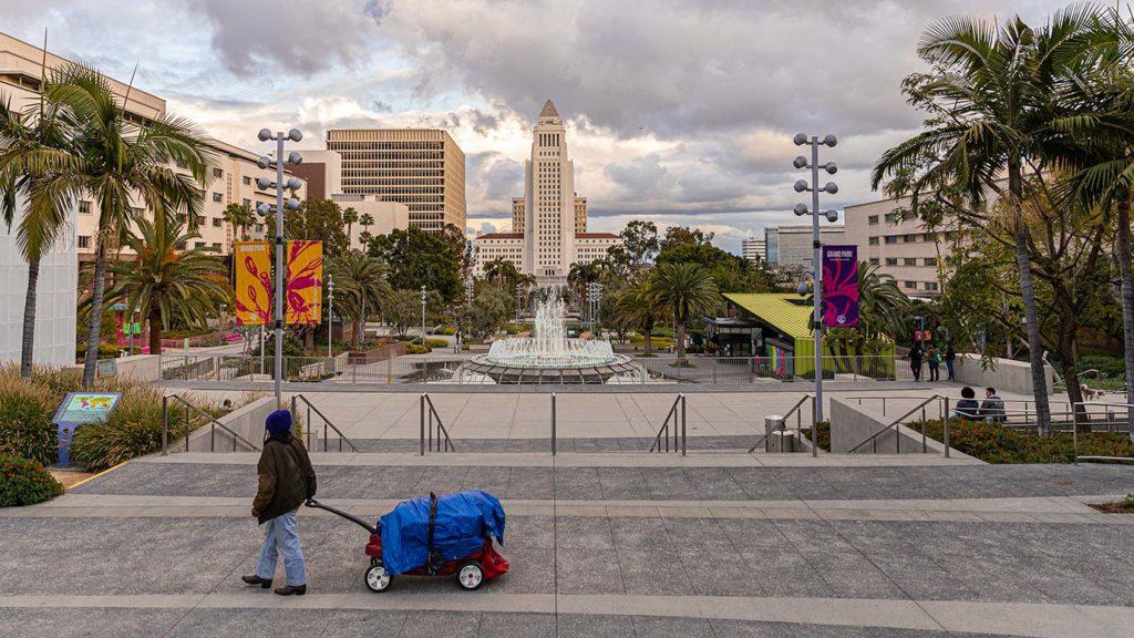 Grand Park facing City Hall