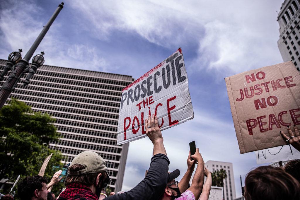 Black Lives Matter protest at City Hall against police brutality.