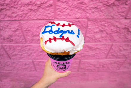 Dodgers Donut Trejo's Coffee and Donuts