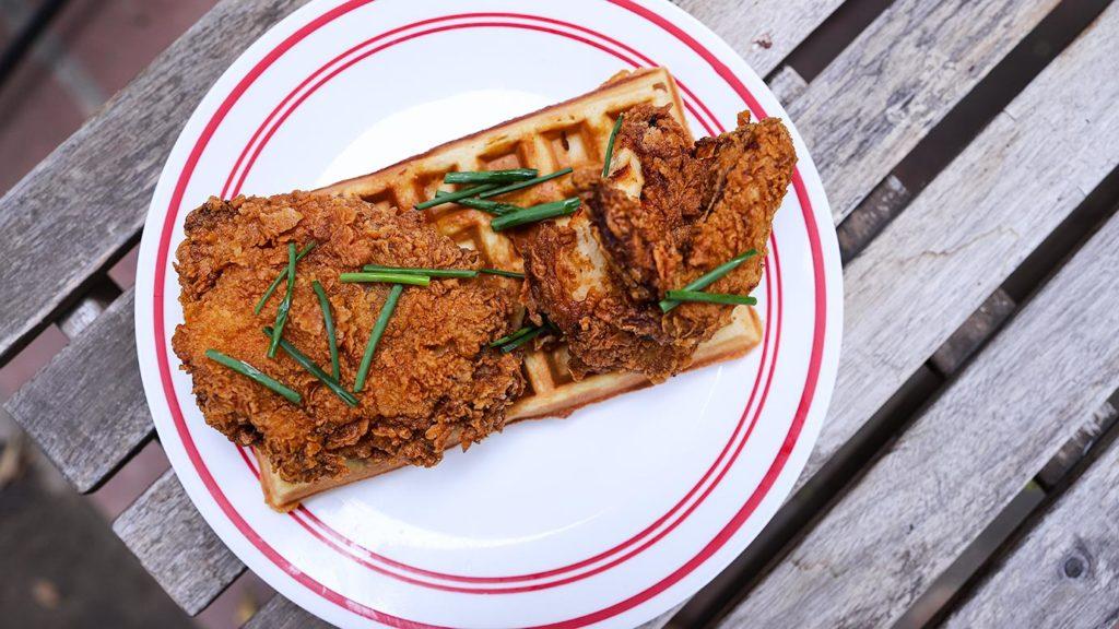 Fried Chicken & Waffles from Poppy + Rose