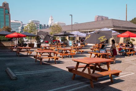 Honda Plaza Little Tokyo Outdoor Dining Picnic Tables