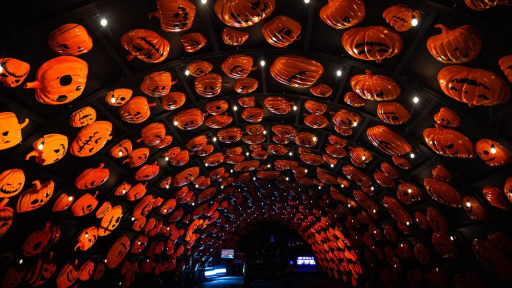 Haunt'O'Ween drive thru pumpkin tunnel
