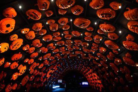 Haunt'O'Ween drive thru pumpkin tunnel