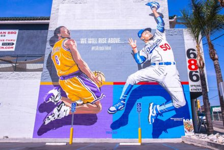 Kobe Bryant and Mookie Betts mural Chinatown
